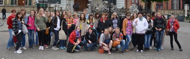 Zdjęcie grupowe pod Neptunem w Gdańsku
